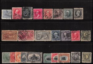 Lot of 25 U.S. Early Better Used Stamps Scott Range # 114 - 309 #139177 X