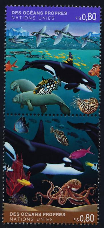 United Nations Geneva 215a MNH Whales, Fish, Marine Life