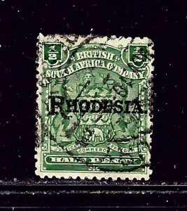 Rhodesia 82 Used 1909 overprint