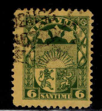 Latvia Scott 141 Used coat of arms stamp