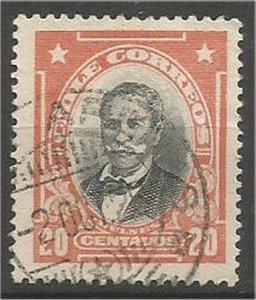 CHILE, 1911  used 20c, Bulnes Scott 105