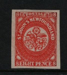 Newfoundland #8 Extra Fine Mint Full Original Gum Lightly Hinged **With Cert.**