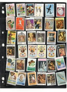GRENADA COLLECTION ON STOCK SHEET, ALL MINT, MOSTLY MNH