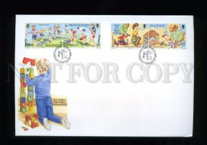 161421 ISLE OF MAN 1989 Children's Games FDC cover