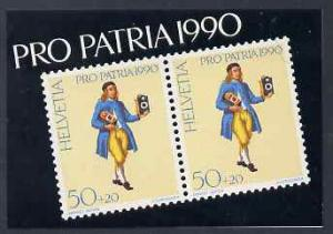 Booklet - Switzerland 1990 Pro Patria 7f50 booklet comple...