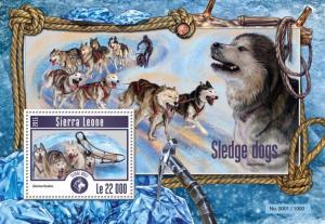 SIERRA LEONE 2015 SHEET SLEDGE DOGS srl15209b