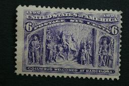 United States #235 6 Cent Columbian 1893 No Gum Very Good