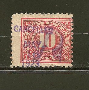 USA R234 Documentary Stamp Cancelled May 16 1923 Used