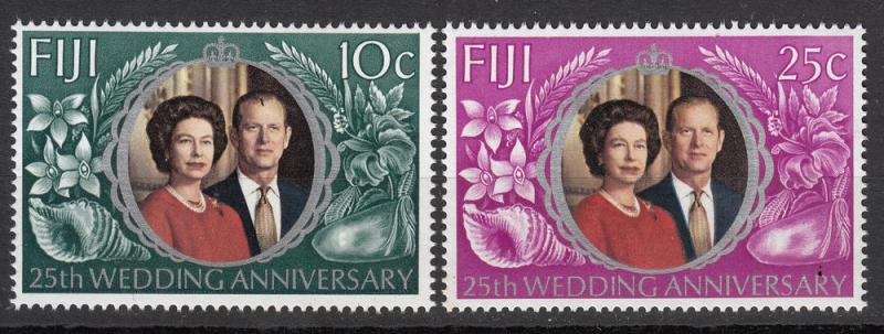 Fiji - 1972 Silver Wedding Issue Sc## 328/329 - MNH(5583)