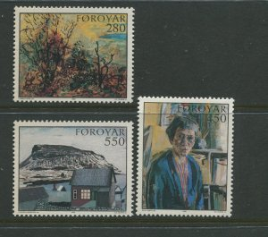 STAMP STATION PERTH Faroe Is.#127-129 Pictorial Definitive Iss. MNH 1985 CV$6.00