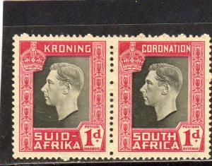 South Africa Geo V Defins pair MH
