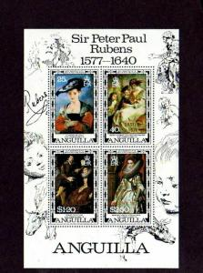 ANGUILLA - 1978 - RUBENS PAINTINGS - EASTER - OVPT - MINT - MNH S/SHEET!