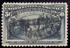 US Stamp Scott #240 Used SCV $175. Near Perfect Centering.
