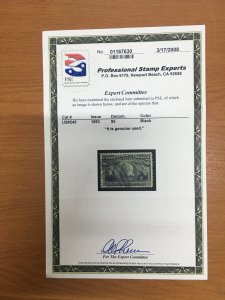 momen: US Stamps #245 $5 Columbian Used SUPERB PSE Cert