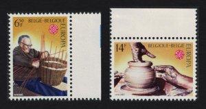 Belgium Europa Traditional Crafts 2v Margins 1976 MNH SG#2427-2428
