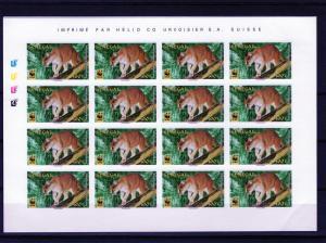 Senegal 1997  WWF African Golden Cat 4 Imperforated Shlt (16) Sc#1294/1297