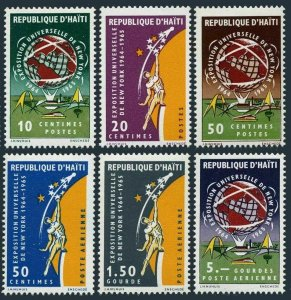 Haiti 521-523,C233-C235,MNH. Michel 812-817. New York World Fair, 1965. Globe.