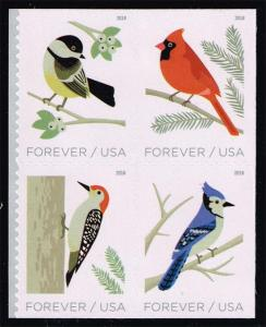 US #5320a Birds in Winter Block of 4; MNH (4.00)