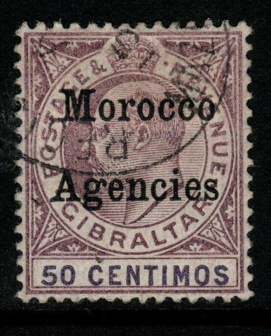 MOROCCO AGENCIES SG21 1905 50c PURPLE & VIOLET USED