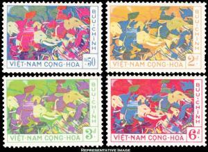 Vietnam Scott 108-111 Mint never hinged.