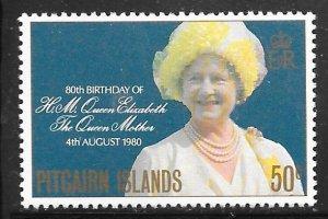 Pitcairn Islands 193: 50c Queen Elizabeth the Queen Mother, MH, VF