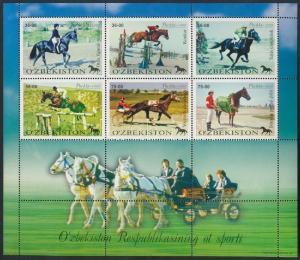 Uzbekistan stamp Equestrian Sports mini sheet 2000 MNH Mi 247-253 WS181490