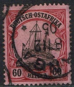 GERMAN EAST AFRICA 1905 YACHT 60H NO WMK USED