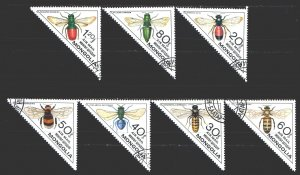 Mongolia. 1980. 1279-85. Insects, fauna. USED.