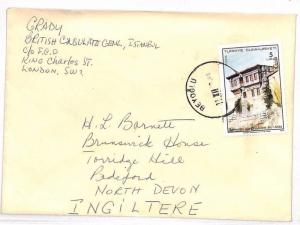 VV271 Turkey Devon England GB Cover {samwells-covers}