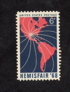 1340 Hemisfair 68 US Single Mint/nh FREE SHIPPING