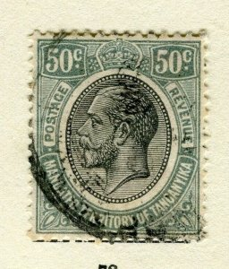 TANGANYIKA; 1927 early GV issue fine used 50c. value