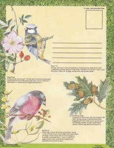 GB Lettercard Birds and Trees Unused VGC