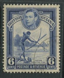 British Guiana - Scott 233 - KGVI- Definitive -1938 - FU - Single 6c Stamp
