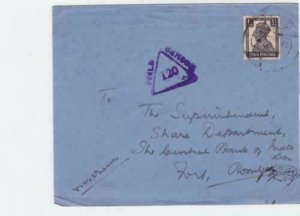 india bombay 1945 field censor  stamps cover   ref r14868
