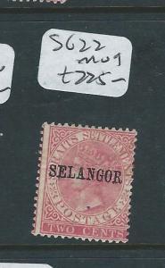 MALAYA SELANGOR (P0510B) 2C QV  SG 22  MOG
