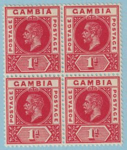 GAMBIA 71a MINT NEVER HINGED OG **  NO FAULTS EXTRA FINE ! BLOCK OF 4