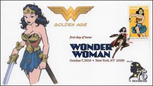 2016, Wonder Woman, Golden Age, Digital Color Postmark, NY NY, 16-280