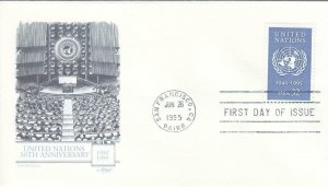 1995, 50th Anniv. United Nations, Artmaster, FDC (D14467)