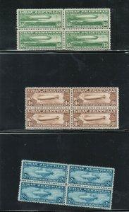 USA #C13 #C14 #C15 Very Fine Mint Set In Blocks