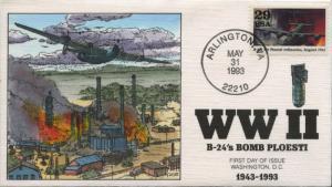 #2765D FDC 5/31/1993 ARLINGTON, VA HAND PAINTED BY COLLINS CACHET BU1031