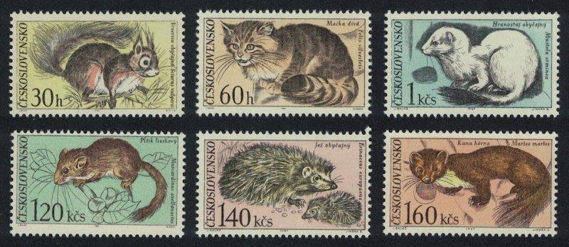 Czechoslovakia Squirrel Stoat Dormouse Hedgehog Fauna of Tatra National Park 6v