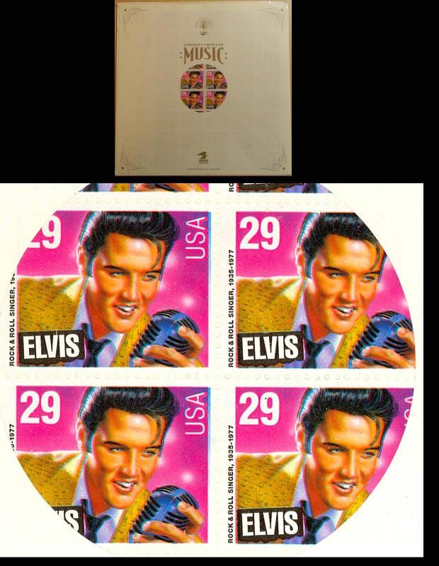 ELVIS COLOR SHIFT COMPLETE PANE ERROR - IN USPS HOLDER