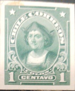 J) 1910 CHILE, COLUMBUS, AMERICAN BANK NOTE, DIE PROOF, IMPERFORATED