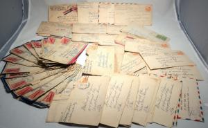 80 USA WWII Mail ARMY Military Navy APO Airmail War Cover Collection 1944-1945