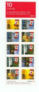 CANADA # BK302a,b. NO GUM PRINTED ON COVER BOOKLET FLAGS CAT VALUE $100