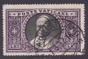 Vatican City 1933  L.2.75 Pope Pius XI  VF/(0) with Nice Circular Date Stamp