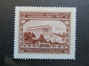 A4P2F35 Germany Poster Stamp 1933 International Philatelic Exhibition MNG