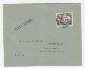 LATVIA, 1929 cover, 6s., Liepaja to Copenhagen, Denmark.