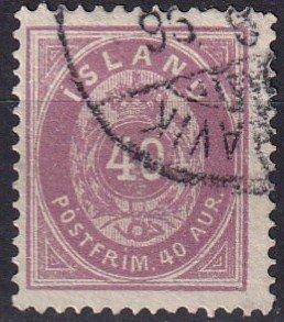 Iceland #18  F-VF Used CV $47.50 (Z7782)