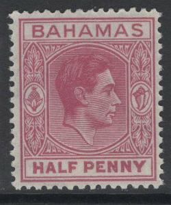 BAHAMAS SG149e 1952 ½d BROWN-PURPLE MTD MINT